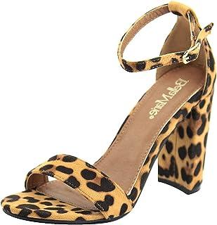 71878fb74cec Bella Marie Women's Strappy Block High Heel Sandal