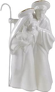 Holy Family Ceramic White & Gold-colored Decorative Figurine