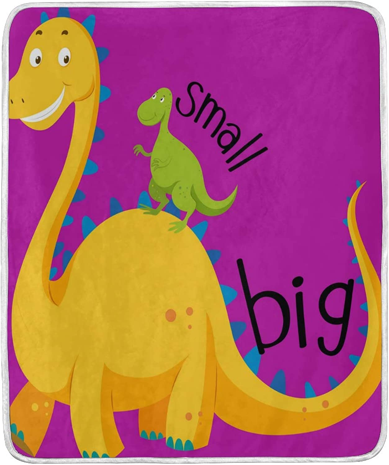 KGuanJi Dinosaur Throw Blanket Couch Adult Kid Bed Men Girl Chair Sofa 50x60 in Warm Personalized