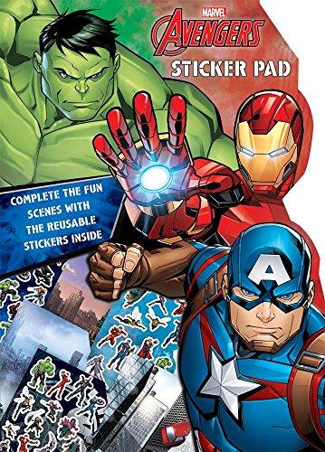 Marvel Avengers Boys Classic Comic Book Style Shaped Sticker Pad