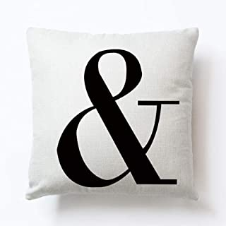 Pillow cover leisure love English letters pillow linen cushion cover-zy0246-9_45 * 45cm