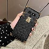 Galaxy Note 9 Grid Plaid Case,SelliPhone Luxury Design Cute Slim Diamond Lattice...