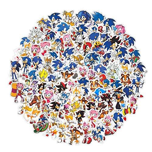 LINGJIA Sonic The Hedgehog Aufkleber 20 Stück / Los Cool Hawaii Spiel Sonic The Hedgehog Aufkleber für Laptop Computer Skateboard Gepäck Helm Koffer Aufkleber Aufkleber