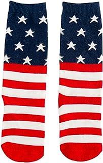 Scrox 1Pares Calcetines de Algodón de Niños del Algodón de la Muchacha de los Calcetines de la Personalidad Calcetines Creativos del Algodón de la Bandera para Mantener Caliente Niña DE 4-6 Años