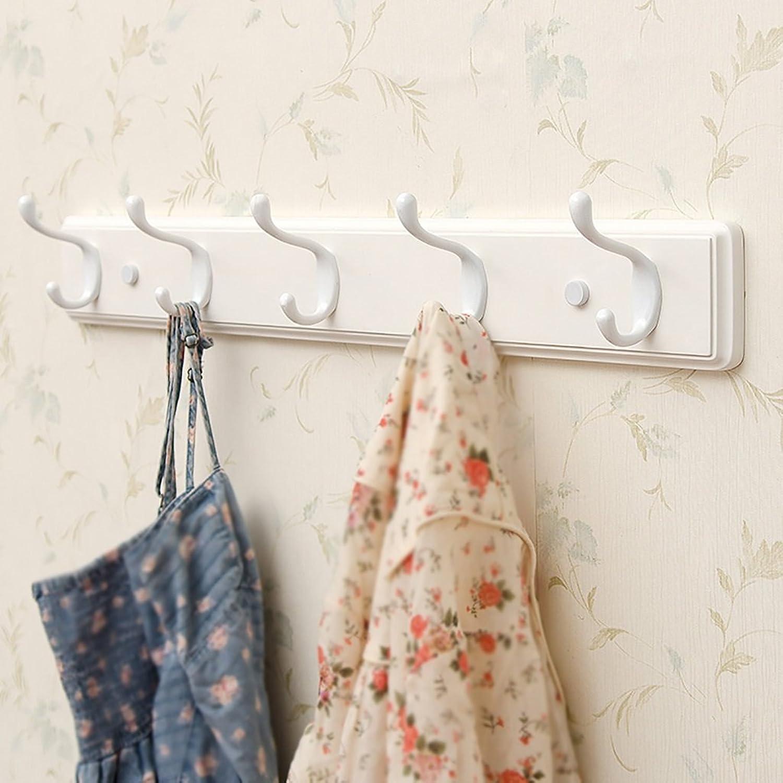 LXLA- Shelf Hangers Coat Rack Hook Up Double Wood Bamboo Wall-mounted White (Available 3,4,5,6,Hooks,35.5 48.2 61 73.8  7.8  8 cm) ( Size   5 hooks )
