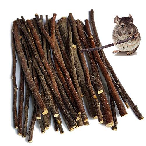 sharllen 100g (3.5oz) Apple Sticks Pet Snacks Chew Toys for Guinea Pigs Chinchilla Squirrel Rabbits Hamster