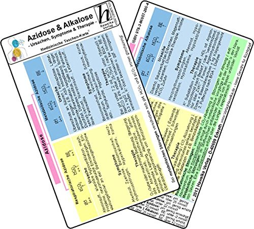 Azidose & Alkalose - Ursachen, Symptome & Therapie - Medizinische Taschen-Karte