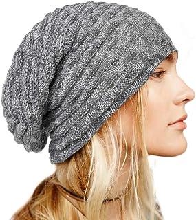 بوهيند شتاء محبوك قبعة صغيرة دافئة قبعة رمادي قبعة لينة تمتد كابل اكسسوارات الشعر للنساء والفتيات