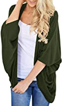 FANOUD Women's Autumn Tops Solid Color Kimono Cardigan Loose Sleeves Cover up