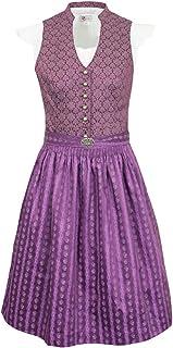 Turi Landhaus Jugend Dirndl Fiona - Beere T821001001 - Wunderschönes Trachtenkleid mit Schürze und Shirtbluse Oktoberfest Junge Damen