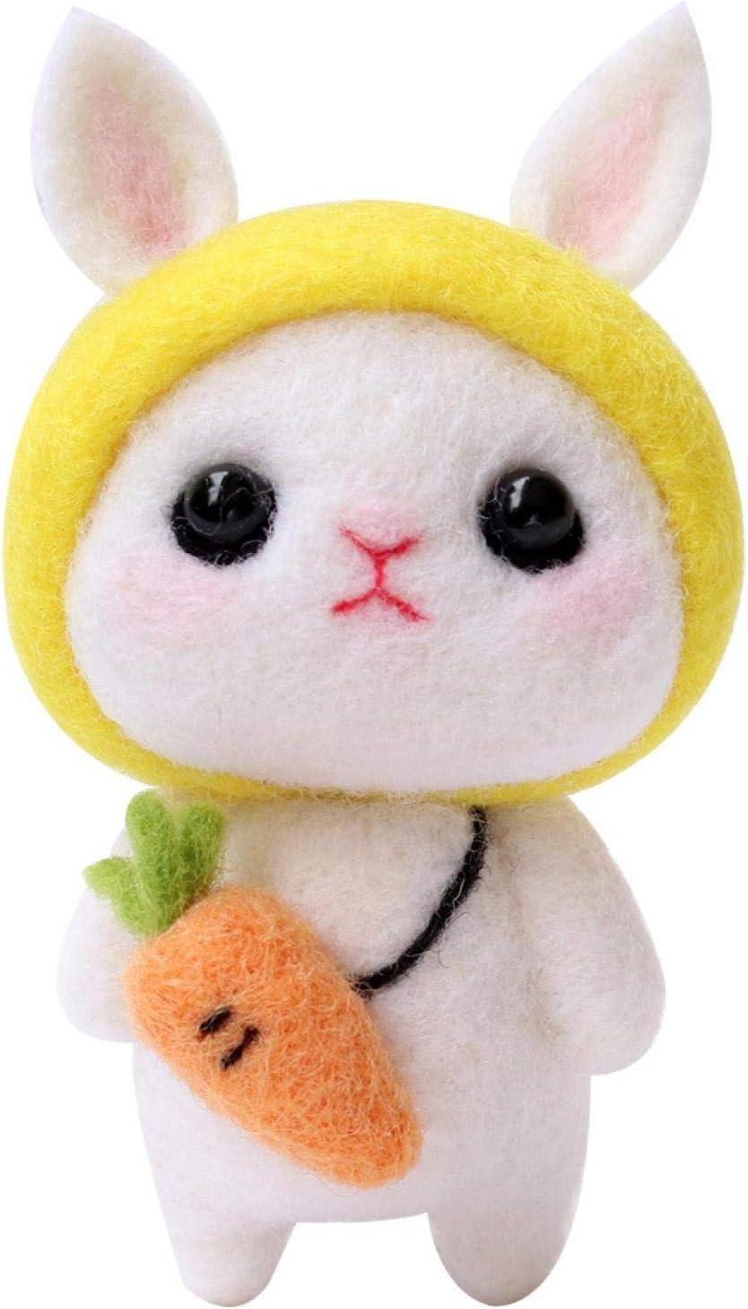 Cute Wool Felt Hand New Shipping Free Shipping Handmade Bunny Adult Carrot Las Vegas Mall Crafts
