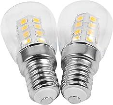 FRCOLOR 2pcs Refrigerator Light Bulb E14 3W LED Fridge Bulbs Energy Saving Freezer Ceiling Home Lighting Warm White Replac...
