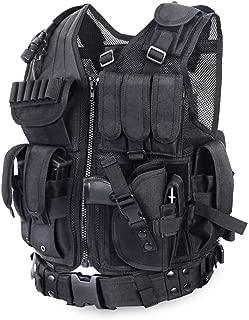vAv YAKEDA Tactical Vest Combat Training Military Vest Adjustable for Adults