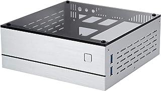 Goodisory A01 Aluminum Mini-ITX HTPC Desktop Computer Chassis Sliver Tempered Glass