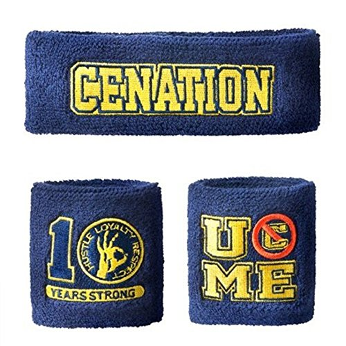 WWE John Cena Daniel Sweatbands strong Wristbands Piece Set blue Be the first to write a review