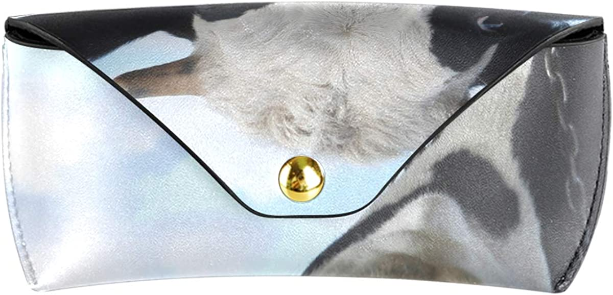 Multiuse Portable Sunglasses Case Eyeglasses Pouch Cute Cow Storage PU Leather Goggles Bag