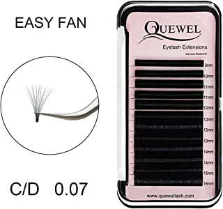 Volume Lash Extensions Thickness 0.07mm D Curl Mix Length 9-16mm Rapid Blooming Easy Fan Mink Black|Thickness 0.05/0.07/0.10/0.12mm C/D Curl Length Single 8-18mm Mix-8-15mm Mix-9-16mm|