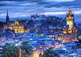 Edinburgh Castle At Night Puzzles for Adults, 300 Piece Kids Jigsaw Puzzles Game Toys Gift for Children Boys and Girls, 10' x 15'