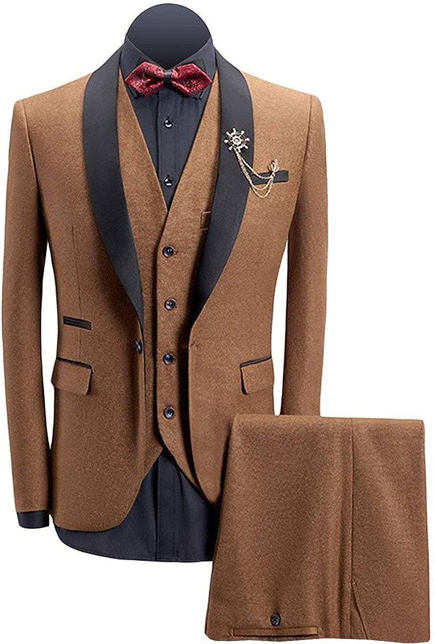 Mens Retro Tweed Suit Formal Shawl 発売モデル Single 人気の製品 Tuxedos Breasted Lapel