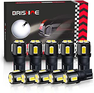 BRISHINE 194 LED Bulbs 6000K Xenon White Extremely Bright 5630 Chipsets 168 2825 175 T10 W5W LED Replacement Bulbs for Car...