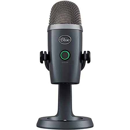 Blue Yeti Nano Premium USB Microphone for Recording, Streaming, Gaming, Podcasting on PC and Mac, Condenser Mic with Blue VO!CE Effects, Cardioid and Omni, No-Latency Monitoring - Shadow Grey
