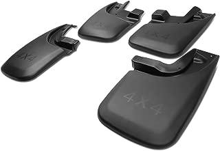 For 14-18 Chevy Silverado 1500/2500HD/3500/HD 4Pcs Front+Rear 4X4 Logo Mud Guard Splash Flap Kit Matte Black