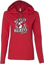 CornBorn Women's Nebraska Huskers Volleyball Dream Big Long Sleeve Hooded Tee