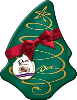 DOVE Milk Chocolate Truffles Tree Box Tin Christmas Candy Gift, 5.64-Ounce Tin