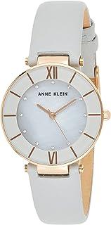 Anne Klein Womens Quartz Watch, Analog Display and Leather Strap - AK-3272RGLG