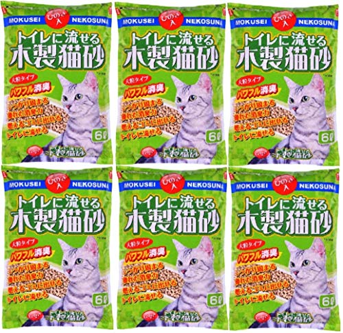 Wooden cat sand 6L ~ 6 that can safely Hitachi Chemical
