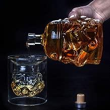 BESTONZON Copa de vino de doble capa Copa de vino Flor de rosa C/óctel de doble pared Taza de cerveza Taza Resistente al calor para vodka Whisky que bebe 180 ml