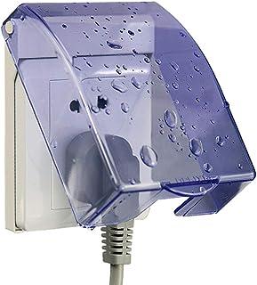 TOPBATHY 1個のコンセントカバークリア防水1ギャングチャイルドプルーフソケットカバープラグプロテクターアウトレットケース用バスルーム