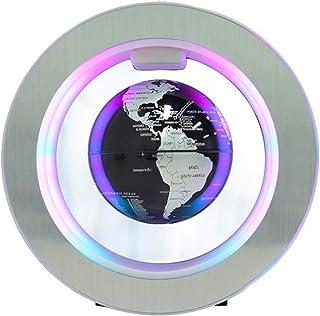 Coriver Roterande magnetisk levitationglob, 10 cm anti-gravitation flytande glob med färgade LED-lampor världskarta för sk...