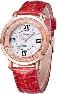 Fashion Watches 1745 Fashion Women Quartz Wrist Watch with PU Leather Band and Alloy Watch Case