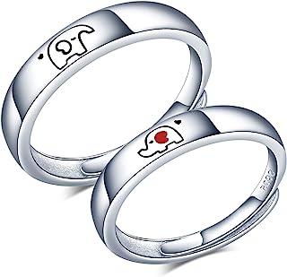CPSLOVE Anello coppia regolabile, anello da donna, anello da uomo, fede nuziale in argento sterling 925, anello di fidanza...