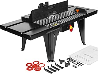 XtremepowerUS Deluxe Bench Top Aluminum Electric Router Table Wood Working On/Off Swtich Craft DIY Benchtop (34