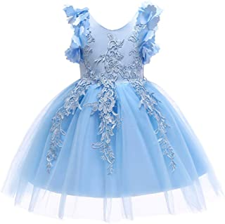 1-12T Flower Girl Lace Dress Pageant Kids Christmas Party Dresses