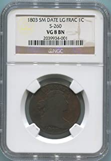 1803 P Large Cent Cent VG8 Brown NGC
