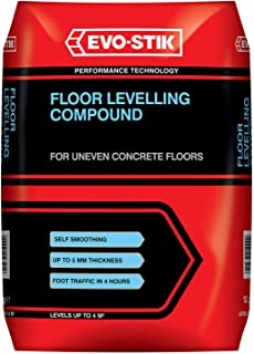 EVO-STIK Floor Levelling Compound, Fast Setting, Self Smoothing, For Interior Use, 25kg