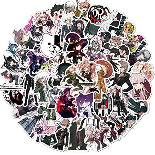 CAR-TOBBY 50 Stk Anime Danganronpa Sticker Wasserflasche Sticker Laptop Sticker Skateboard Motorrad Auto Fahrrad Gepäck Aufkleber Beste Geschenk für Kinder