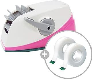 3Mkorea Scotch Desktop Dual_2 Acrylic Sticky Tape Dispenser Core, Self_Auto Cutter Tape Holder Korean product (Pink)