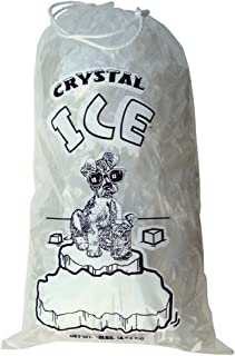 10 lb Ice Bags with Drawstring 11 in x 19 in x 1.4 mil Pack of 500 Heavy Duty Commercial Grade