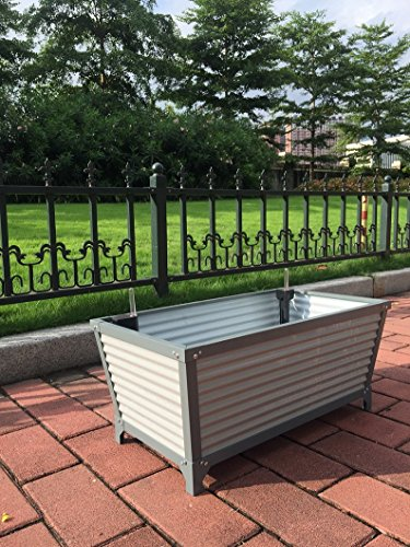 Nativ Premium Pflanzkasten Padua mit Bewässerungssystem, Aluminium grau Metall Pflanzkübel Gemüsebeet