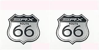 Multistory (K) 2X America US The SRX Route 66 Road Car Sticker 3D Alloy Emblem Styling Badge Metal Car Auto Badge Emblem Decal For SRX