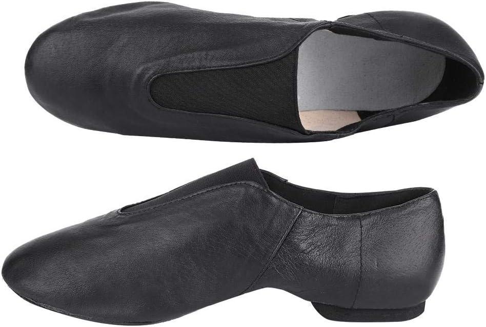 Alomejor 1 Pair Jazz Shoes Slip On Soft Leather Jazz Shoe Women Dance Shoes for Latin Ballroom Jazz Dancing