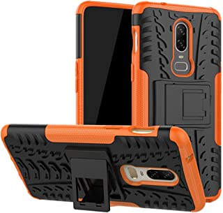 Oneplus 6 Case,Labanema Heavy Duty Shock Proof Rugged Cover Dual Layer Armor Combo Protective Hard Case Cover for Oneplus 6 - Orange