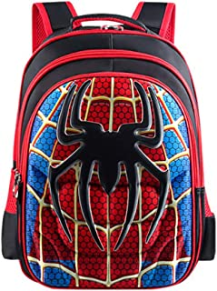 School Backpack Kids Schoolbag Student Bookbag with 3D Anime Super Hero Design, Spider Man Large, Large(16.5x12.6x5.5 in) ...