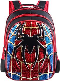School Backpack for Boys Kids Schoolbag Student Bookbag Rucksack Waterproof Shoulder Bag Daypack with Anime Super Hero (A03, Large:16.5x12.6x5.5 in)