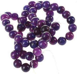 SODIAL(R) Perline 6mm Rotonda Sugilite Pietra Minerale Viola