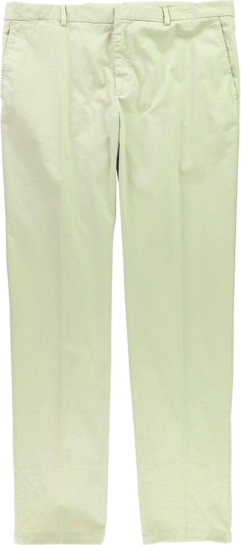 Ralph Lauren Mens Stretch Chino Casual Trouser Pants, Beige, 34W x 33L